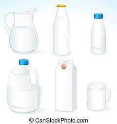 paquets, lait