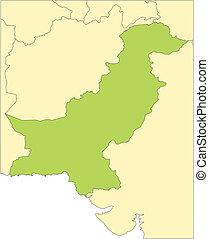 paquistán, países, circundante