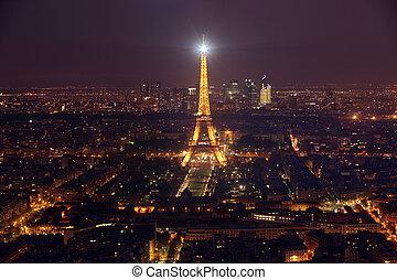 parís, -, abril, 27, :, vista, de, el, parís, y, torre,...
