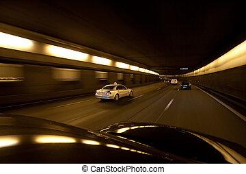 parís, autopista, tráfico, exceso de velocidad