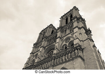 parís, catedral dama notre, francia
