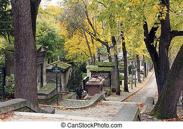 parís, cementerio, pere lachaise, francia