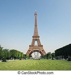 parís, france., eiffel, -, torre
