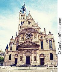 parís, mont, santo, iglesia, du, etienne