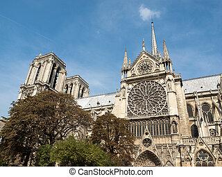 parís, notre, francia, dama, catedral
