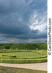 parís, orangerie, parque, versailles, francia