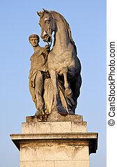 parís, pont, estatua, d'lena