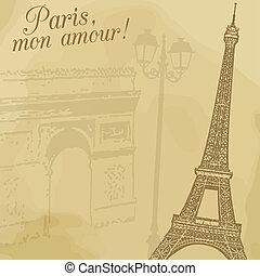 parís, vendimia, cartel