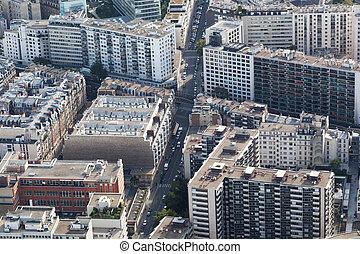 parís, vista aérea