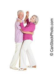 par, äldre, dansande