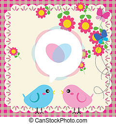 par, älska fåglar