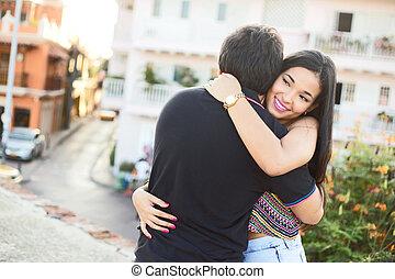 par abraçando
