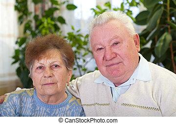 par ancião, casa