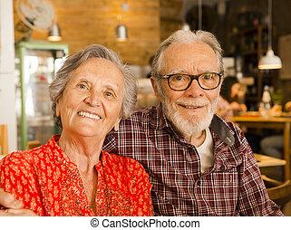 par, antigas, restaurante