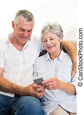 par, användande, rörlig telefonera
