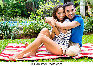 par, ao ar livre, jardim, asiático