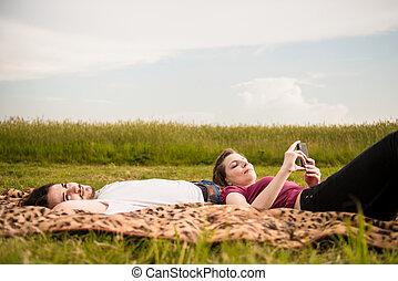par, ao ar livre, relaxante