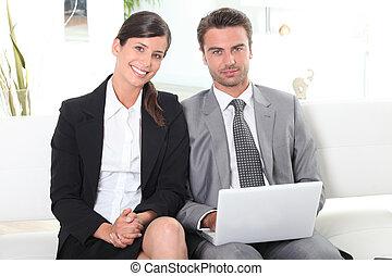 par, apresentação, preparar, negócio