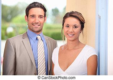 par, atraente, jovem
