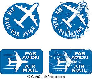 Par Avion Rubber stamp 03