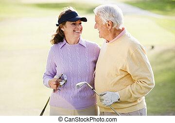 par, avnjut, a, lek av golf