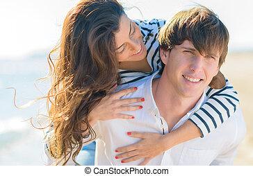 par, avnjut, tillsammans, lycklig