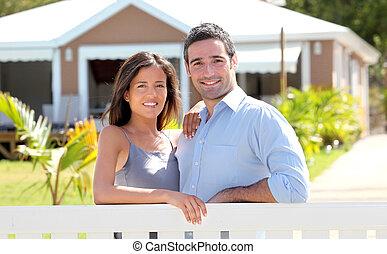 par, beliggende, uden for, nyt hjem