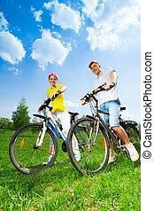 par, bicicletas