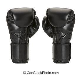par boxing gloves on a white background.