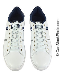 par, branca, sneakers