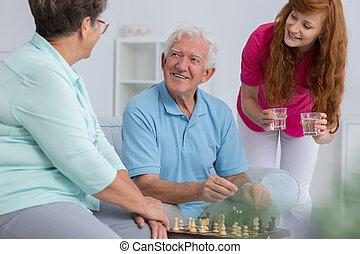 par, caregiver, idoso
