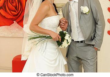 par, casado, abraçado, apenas