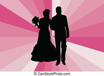 par casado, -, vetorial, ilustração