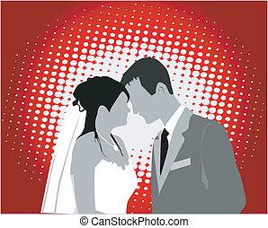 par casado, -, vetorial, trabalho