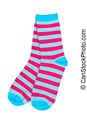 par, colorido, calcetines