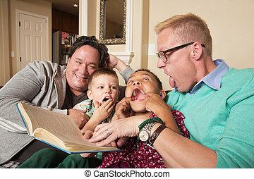 par, crianças, homossexual