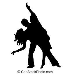 par, dança, latino
