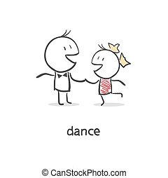 par., dansande