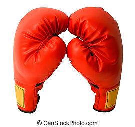 par, de, guantes de boxeo