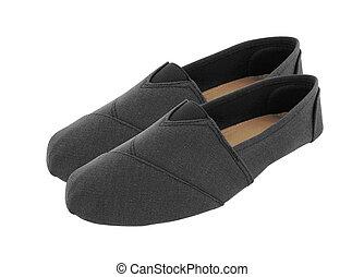 par, de, loafers, isolado, branco