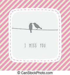 par, de, pássaros, em, love1