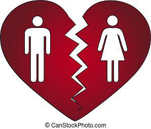 par, divorciado, obtendo