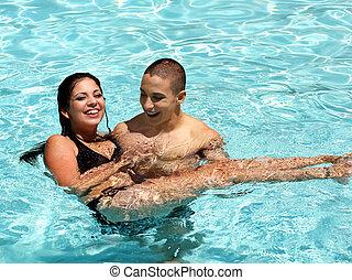 par, em, a, piscina
