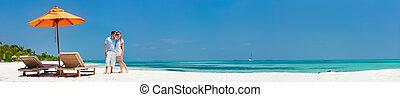 par, em, praia tropical