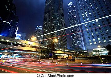 par, en ville, trafic, hong kong
