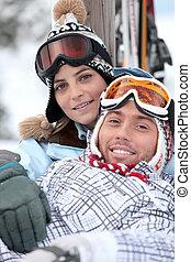 par, esqui, feriados
