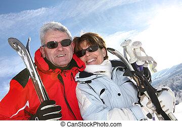 par, esqui, maduras