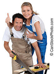 par, estava pé, por, trabalho, banco, fazendo, melhorias...