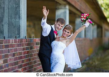 par, felicidade, casório
