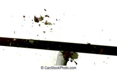 par, flèche, cigarette, tir
